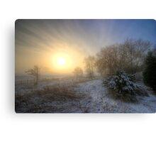 Snowy Landscape Sunrise  Canvas Print