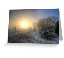 Snowy Landscape Sunrise  Greeting Card