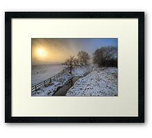 Snowy Landscape Sunrise 2.0 Framed Print