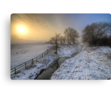 Snowy Landscape Sunrise 2.0 Canvas Print