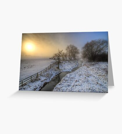 Snowy Landscape Sunrise 2.0 Greeting Card