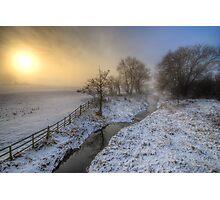Snowy Landscape Sunrise 2.0 Photographic Print