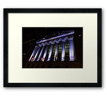 Big Money - New York Stock Exchange in Purple Framed Print