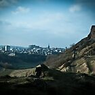 Edinburgh and the crags by TheLostArt