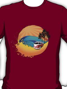 Camper on sunset beach T-Shirt