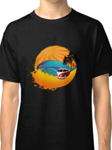 Camper on sunset beach Classic T-Shirt