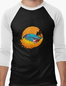 Camper on sunset beach Men's Baseball ¾ T-Shirt