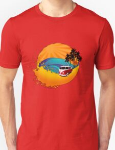 Camper on sunset beach T-Shirt