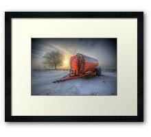 Orange Trailer Framed Print