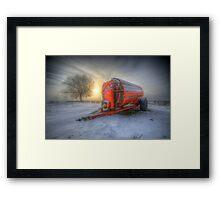 Orange Trailer Framed Print