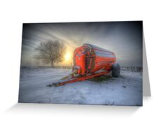 Orange Trailer Greeting Card