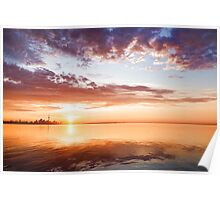 Pink and Gold Morning Zen - Toronto Skyline Impressions Poster