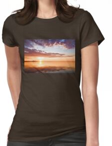 Pink and Gold Morning Zen - Toronto Skyline Impressions Womens Fitted T-Shirt