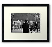 A view of the street Framed Print