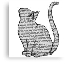 books and cats and books and cats Canvas Print