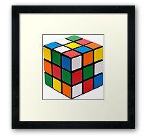 Rubik's cube stuff Framed Print