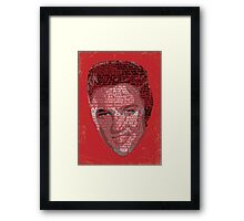 Typographic Icons - Elvis Presley Framed Print