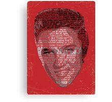 Typographic Icons - Elvis Presley Canvas Print