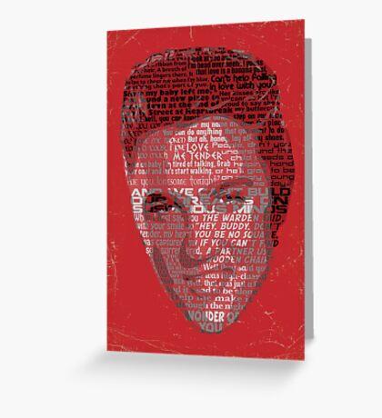Typographic Icons - Elvis Presley Greeting Card