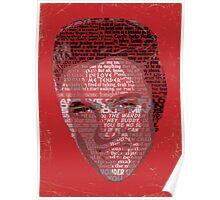 Typographic Icons - Elvis Presley Poster