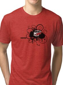 VW Graffiti Surfer life Tri-blend T-Shirt