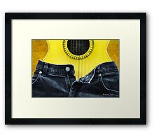 Rock and Roll Woman Framed Print