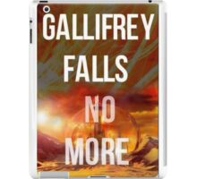 Doctor who Gallifrey falls no more iPad Case/Skin