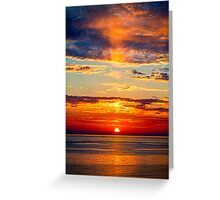 Sun Going Down. Greeting Card