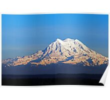 Late Afternoon Light On Mount Rainier Poster