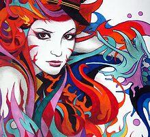 Graffiti Girl #7 by BPMs