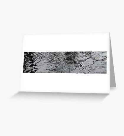 Water patterns Greeting Card