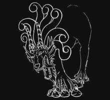 Foo Dog (white on black) by Jamie McCall
