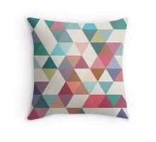 Triangles 1 by Latte Design Throw Pillow