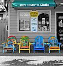 Key Lime Pie Store - Selective Colour by Debbie Pinard