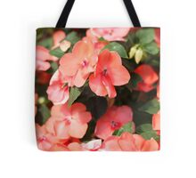 Peach Colored Flowers Tote Bag