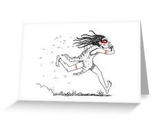 running native Greeting Card