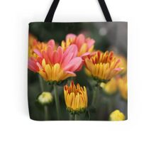 Yellow and Pink Flower Scene 7091 Tote Bag