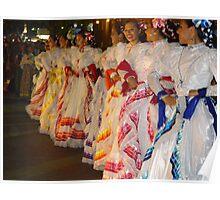 Traditional Coloured Costumes - Tradicional Trajes De Colores Poster