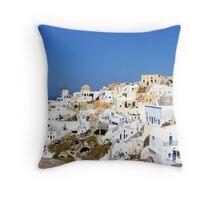 Oia Village II Throw Pillow