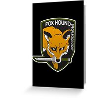Fox Hound Special Force Group Greeting Card
