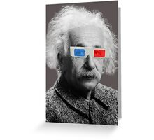 Einstein - 3D Greeting Card