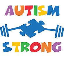 Autism Strong Photographic Print