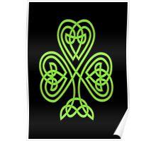 Celtic Shamrock Poster