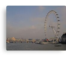 London Eye + The Thames.. Canvas Print