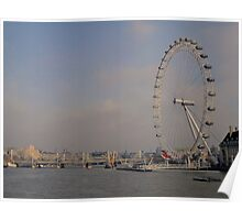 London Eye + The Thames.. Poster