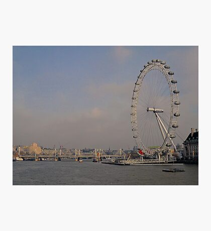 London Eye + The Thames.. Photographic Print