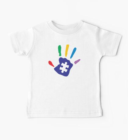Colorful Autism Hand Baby Tee