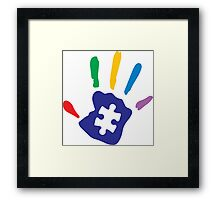Colorful Autism Hand Framed Print