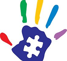 Colorful Autism Hand by lolotees