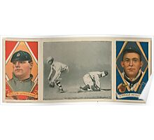 Benjamin K Edwards Collection George J Mullin Oscar Stanage Detroit Tigers baseball card portrait Poster